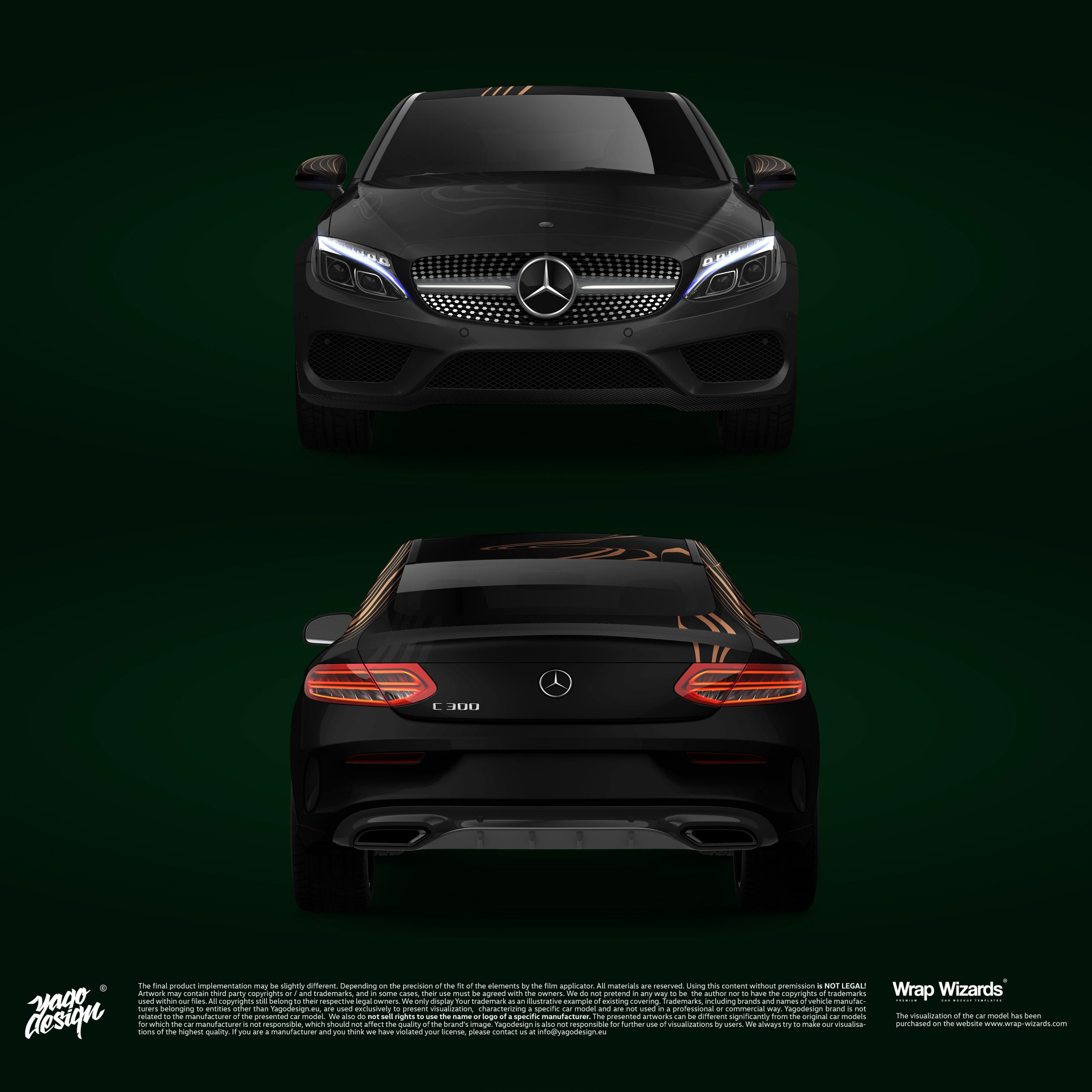 Mercedes-Benz-C63-Coupe-2017-by-Yagodesign-2020-Front&Back