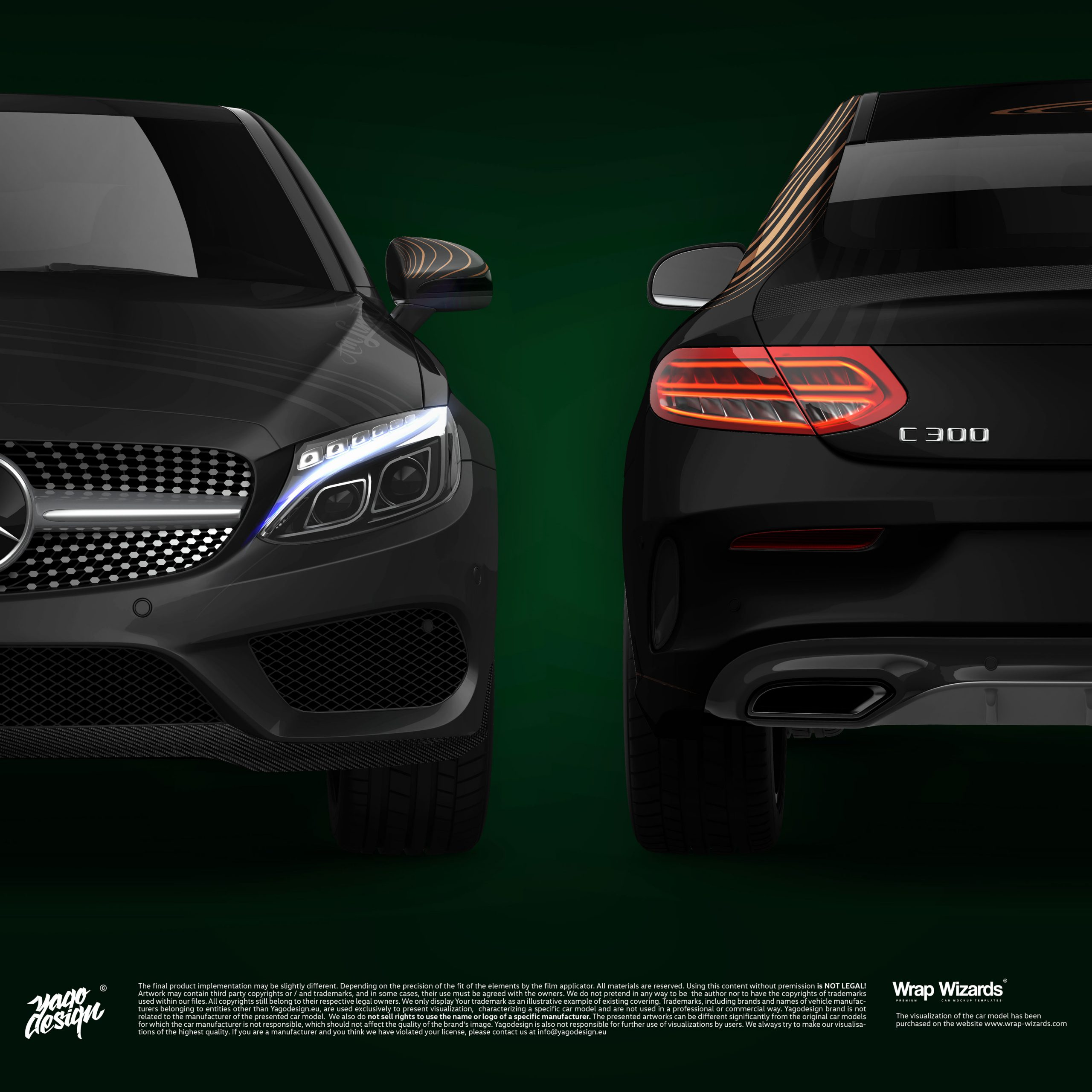 Mercedes-Benz-C63-Coupe-2017-by-Yagodesign-2020-Front&Back2