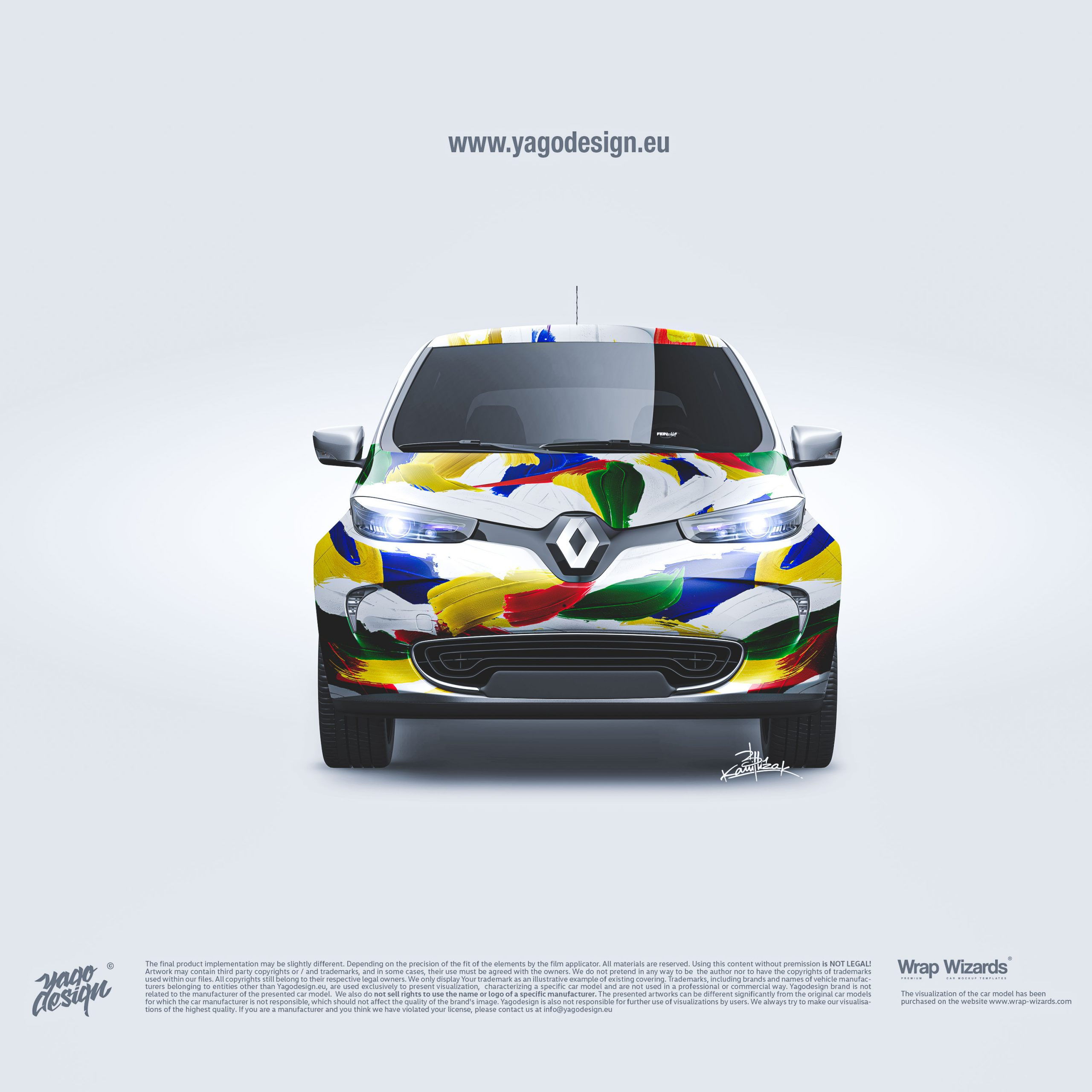 Renault-Zoe-2017-by-Yagodesign-by-Kamil-Lizak-by-Feinschliff–front-view