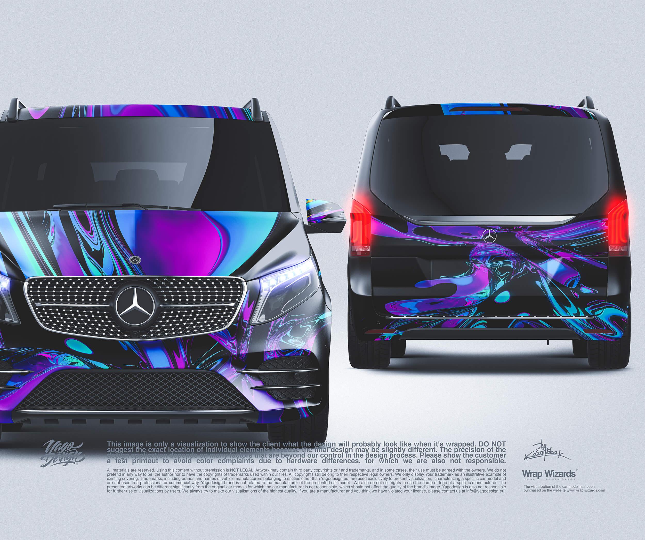 MercedesBenz Vclass front back