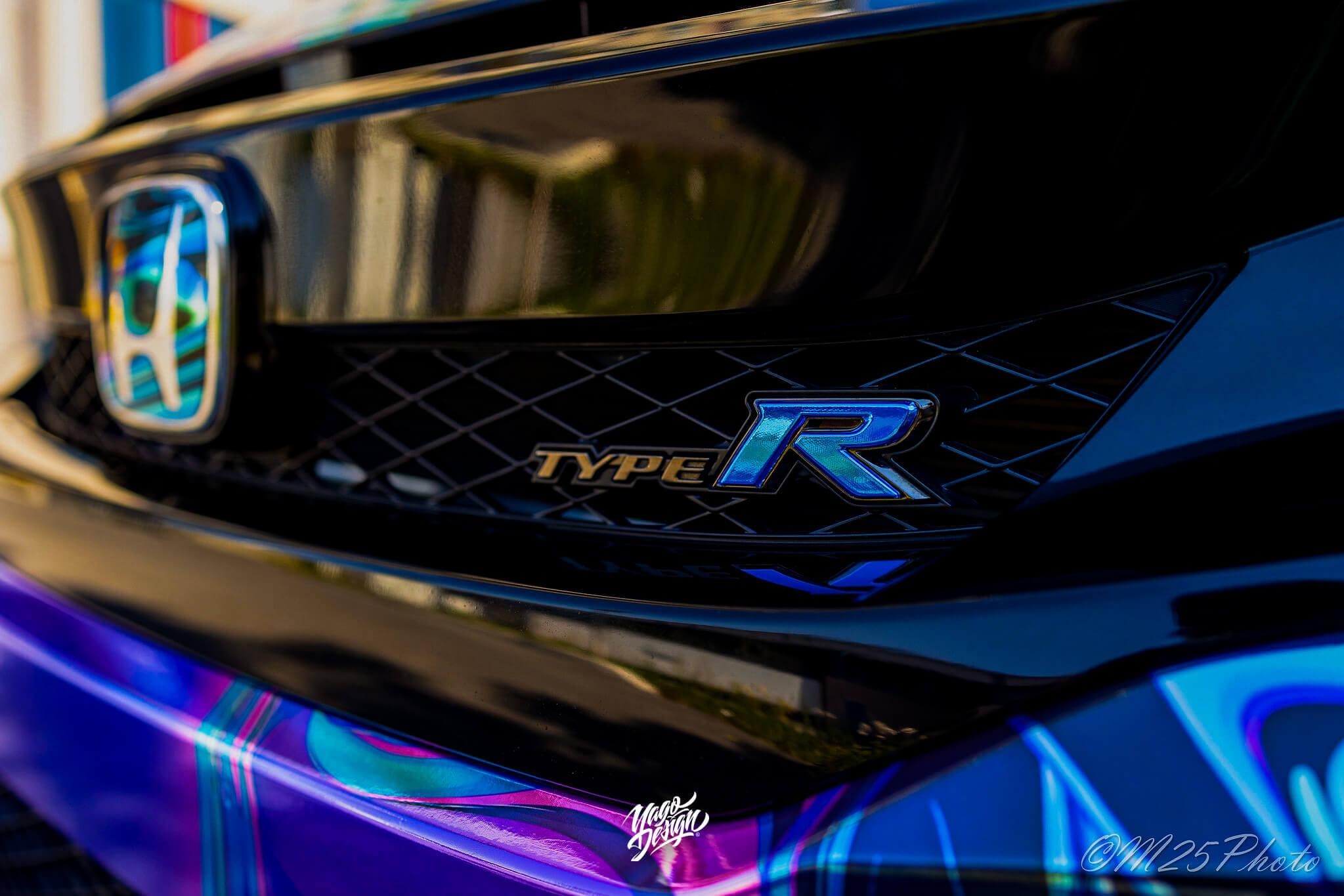 Honda Civic Type R Liquid Design psychodelic by Yagodesign (1)