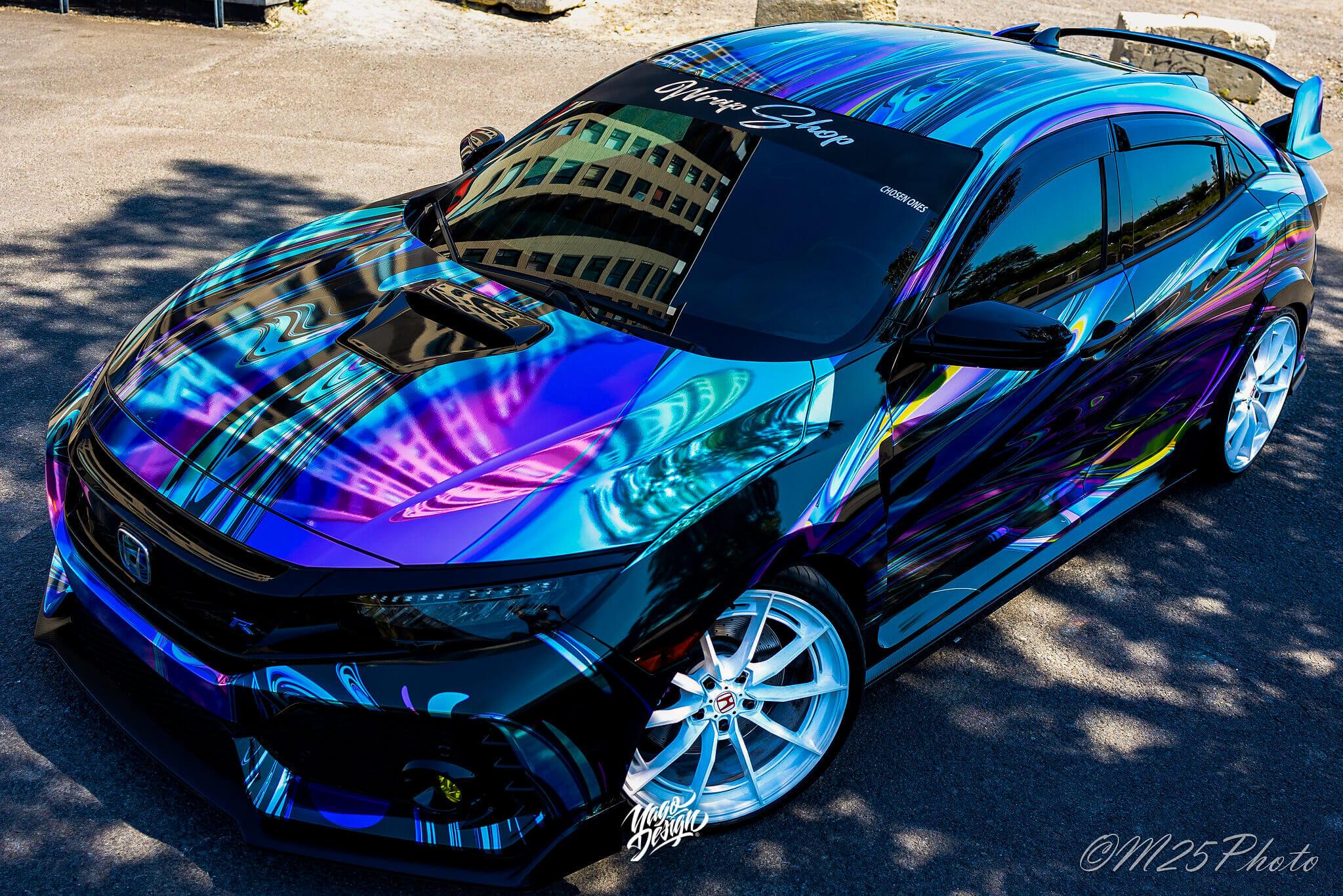 Honda Civic Type R Liquid Design psychodelic by Yagodesign (4)