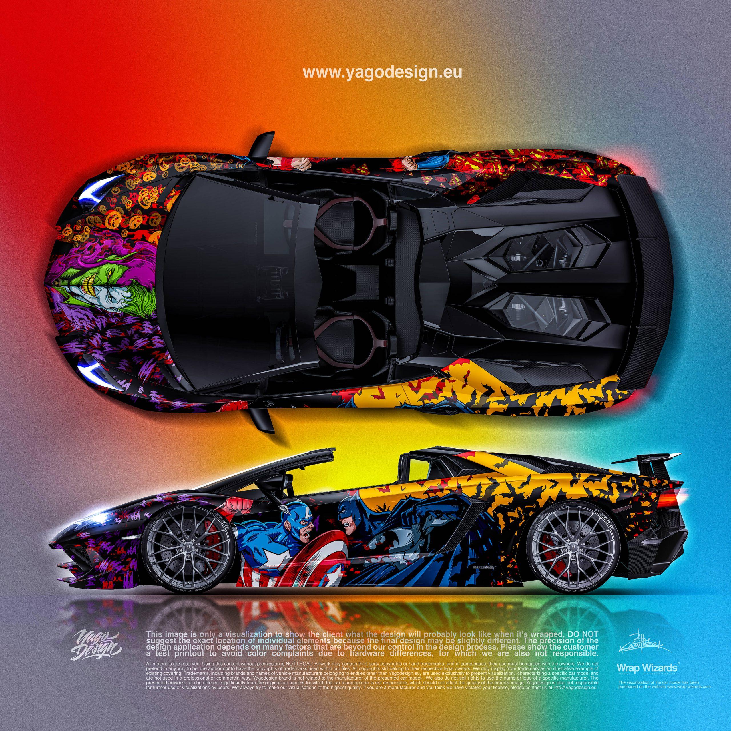 lamborghini-Aventador-S-MARVEL–DC-by-Yagodesign-Side&Top-23500